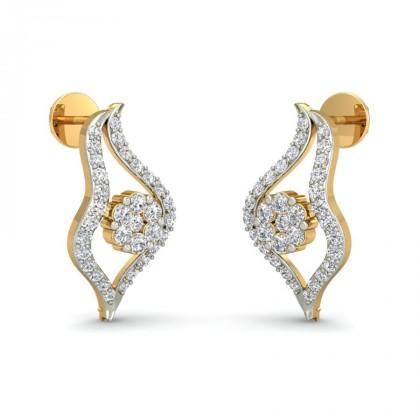 SHASHI DIAMOND STUDS EARRINGS in 18K Gold