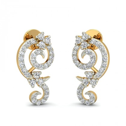 BLAKE DIAMOND STUDS EARRINGS in 18K Gold