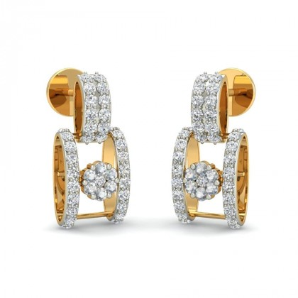 GAUTAMI DIAMOND DROPS EARRINGS in 18K Gold