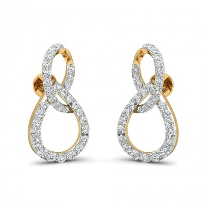 MAVIS DIAMOND STUDS EARRINGS in 18K Gold