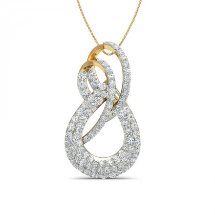 SUMAN DIAMOND FASHION PENDANT in 18K Gold