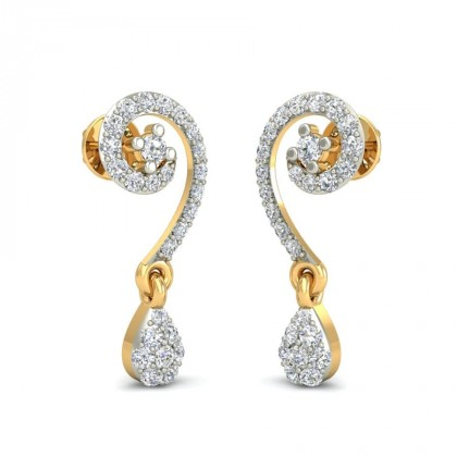 SARAMA DIAMOND DROPS EARRINGS in 18K Gold