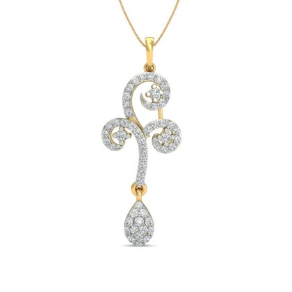 THUMRI DIAMOND FLORAL PENDANT in 18K Gold