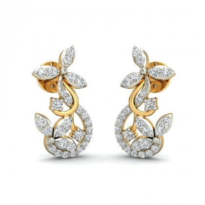 KAYLAH DIAMOND STUDS EARRINGS in 18K Gold