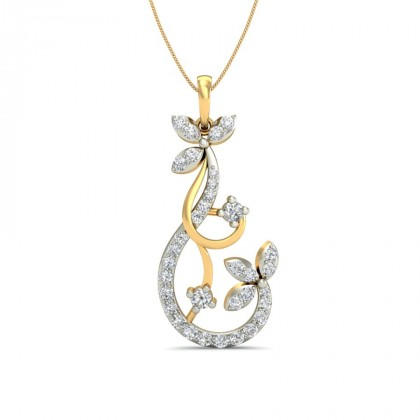 REIGN DIAMOND FLORAL PENDANT in 18K Gold
