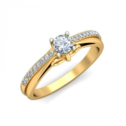 DESTINY DIAMOND CASUAL RING in 18K Gold
