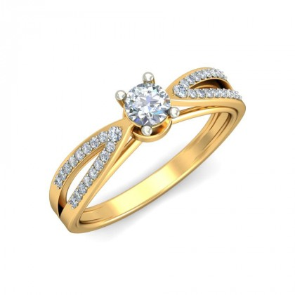 ELINA DIAMOND CASUAL RING in 18K Gold