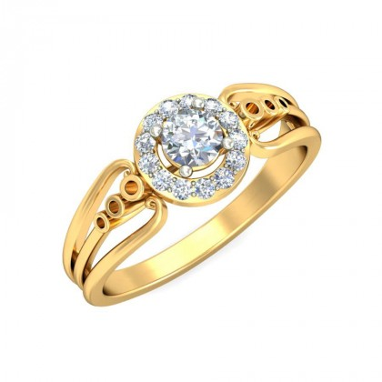 ASHA DIAMOND CASUAL RING in 18K Gold