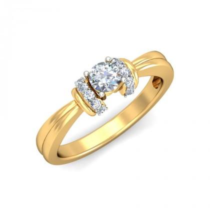 JOLIE DIAMOND CASUAL RING in 18K Gold