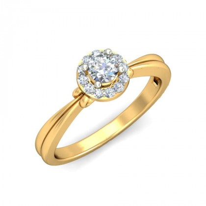 TARUNA DIAMOND CASUAL RING in 18K Gold