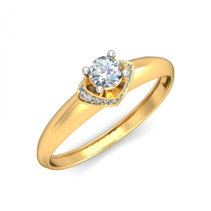 PAOLA DIAMOND CASUAL RING in 18K Gold