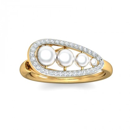 GITA DIAMOND COCKTAIL RING in 18K Gold
