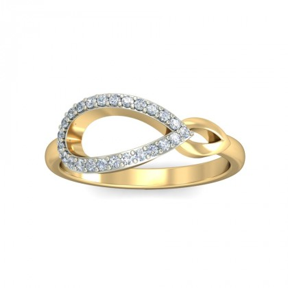 LIYA DIAMOND CASUAL RING in 18K Gold