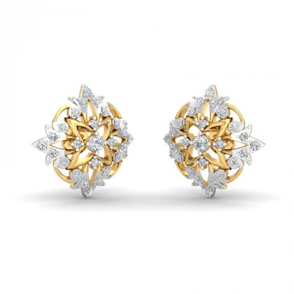 RITA DIAMOND STUDS EARRINGS in 18K Gold