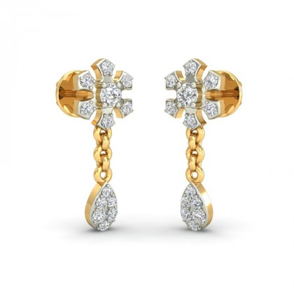 SAMARA DIAMOND DROPS EARRINGS in 18K Gold