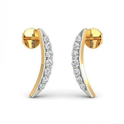 CAPRI DIAMOND STUDS EARRINGS in 18K Gold