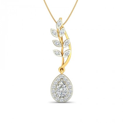 AOIFE DIAMOND FLORAL PENDANT in Topaz & 18K Gold