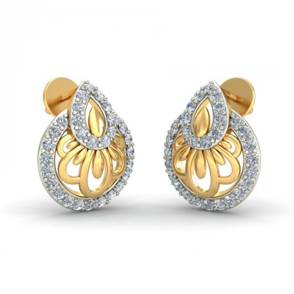 RAGI DIAMOND STUDS EARRINGS in 18K Gold