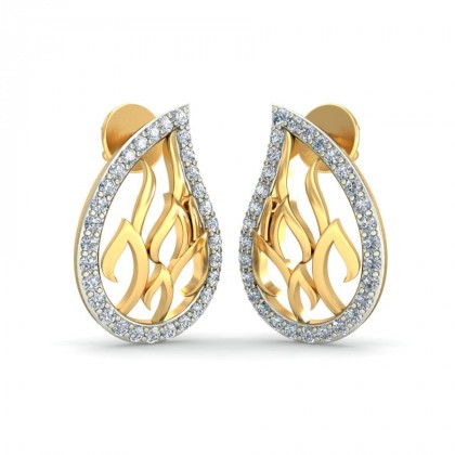 PANINI DIAMOND STUDS EARRINGS in 18K Gold