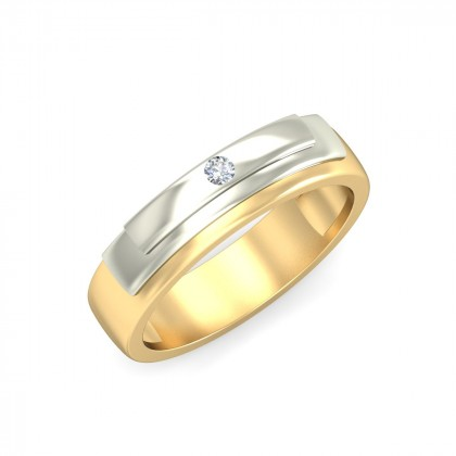 ASHA DIAMOND BANDS RING in 18K Gold