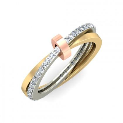 TATIANA DIAMOND BANDS RING in 18K Gold