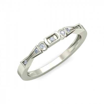 SHIVANI DIAMOND BANDS RING in 18K Gold