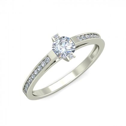 MANANA DIAMOND CASUAL RING in 18K Gold