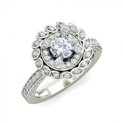 PARNITA DIAMOND COCKTAIL RING in 18K Gold