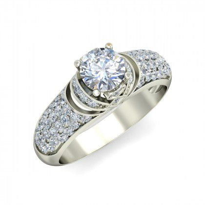 AILEY DIAMOND BANDS RING in 18K Gold