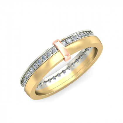 SURUPA DIAMOND BANDS RING in 18K Gold