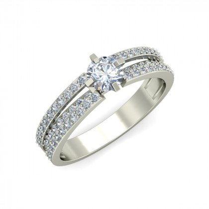 CLEO DIAMOND BANDS RING in 18K Gold