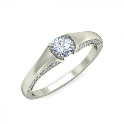 HELENA DIAMOND BANDS RING in 18K Gold
