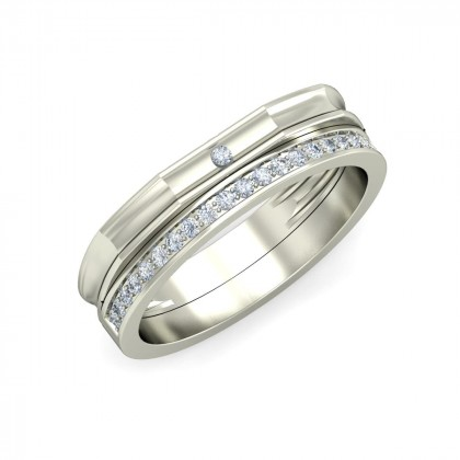 MASUM DIAMOND BANDS RING in 18K Gold