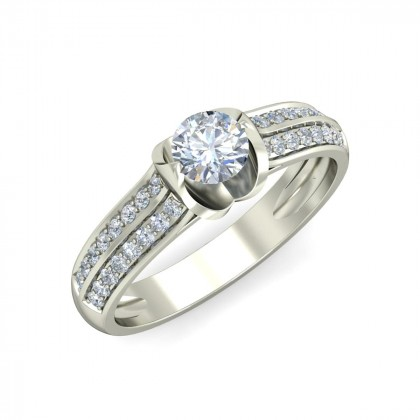 RIA DIAMOND CASUAL RING in 18K Gold
