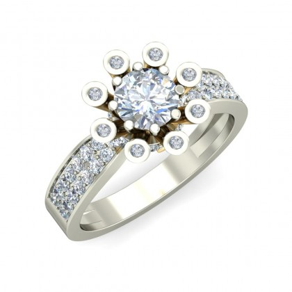 SNEHI DIAMOND COCKTAIL RING in 18K Gold