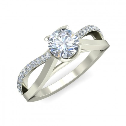 CLAIRE DIAMOND BANDS RING in 18K Gold