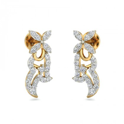 KATELYN DIAMOND STUDS EARRINGS in 18K Gold