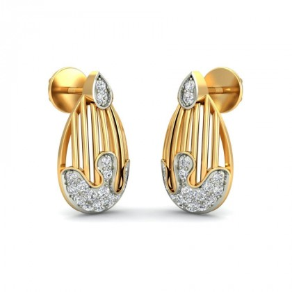 SARA DIAMOND DROPS EARRINGS in 18K Gold