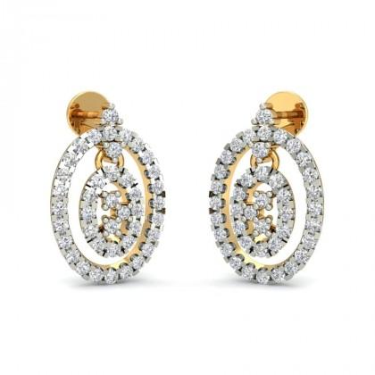 CAILEY DIAMOND DROPS EARRINGS in 18K Gold
