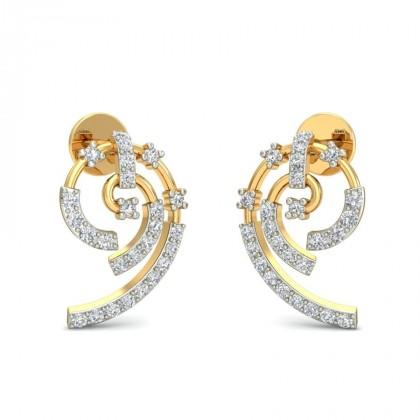 NORMA DIAMOND STUDS EARRINGS in 18K Gold