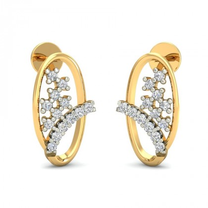 KAYLA DIAMOND STUDS EARRINGS in 18K Gold