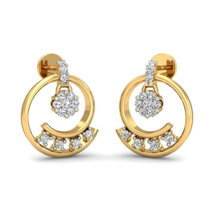 PAVI DIAMOND DROPS EARRINGS in 18K Gold