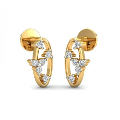 MAY DIAMOND STUDS EARRINGS in 18K Gold