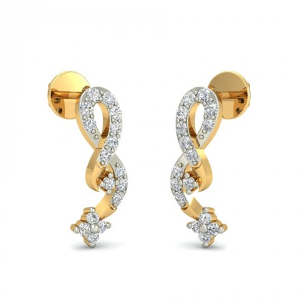 VITI DIAMOND STUDS EARRINGS in 18K Gold
