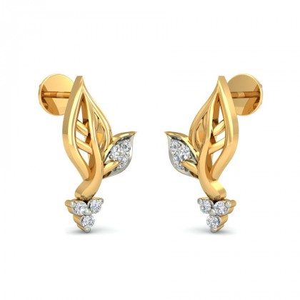 CHARLEY DIAMOND STUDS EARRINGS in 18K Gold