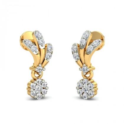 TARLI DIAMOND DROPS EARRINGS in 18K Gold