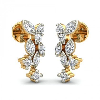 SARVIKA DIAMOND STUDS EARRINGS in 18K Gold