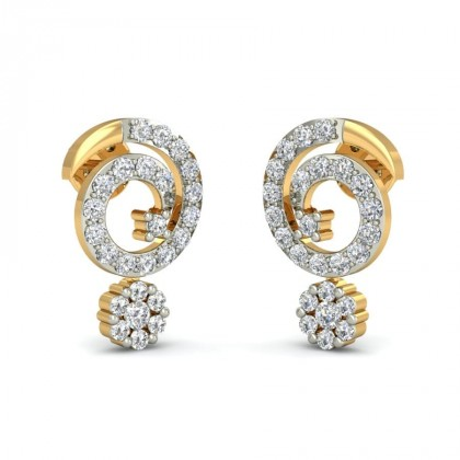 ANSUYA DIAMOND STUDS EARRINGS in 18K Gold