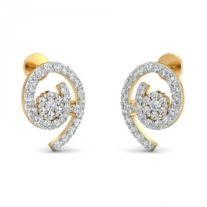 PARNAVI DIAMOND STUDS EARRINGS in 18K Gold