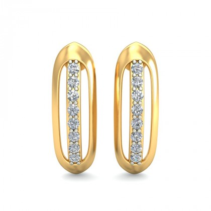 NIRVANA DIAMOND STUDS EARRINGS in 18K Gold